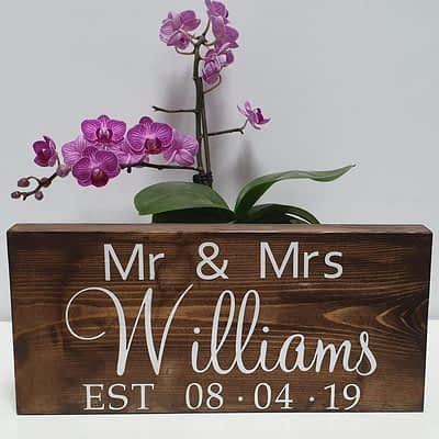 Personalised Wedding Day Beautiful Gift