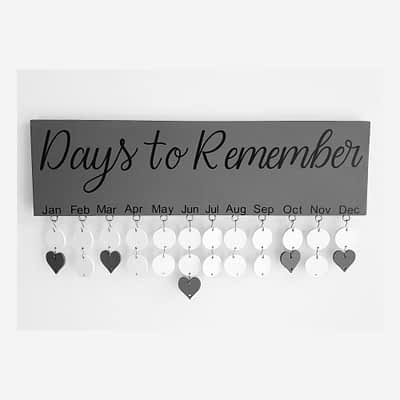 Days To Remember Board in Black and Grey