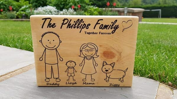personalised stick figure family