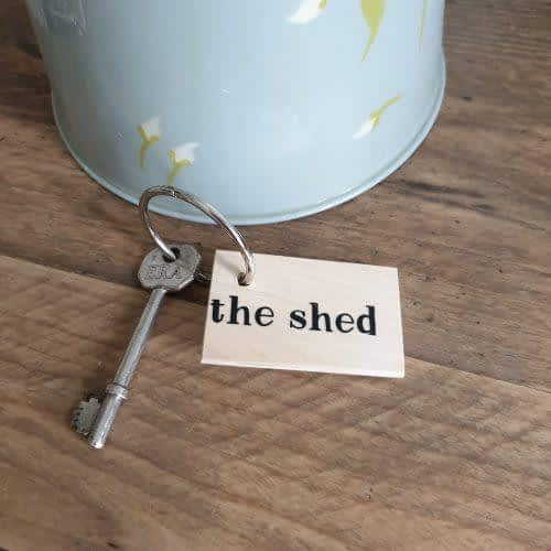 the shed keyring