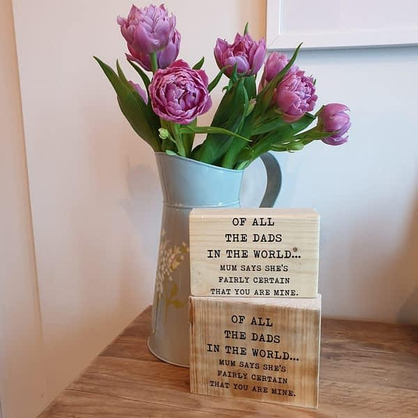 Dad quote Printed in wood
