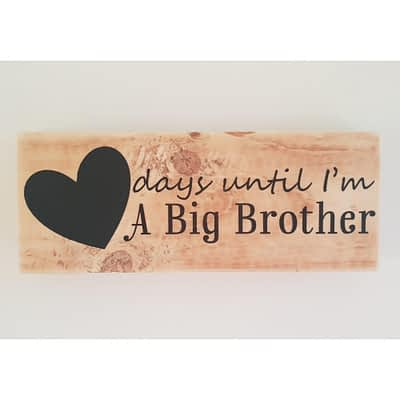 Big Brother Countdown with Chalkboard Heart