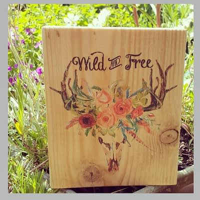 Wild and Free Beautifully Decorated On Reclaimed Wood
