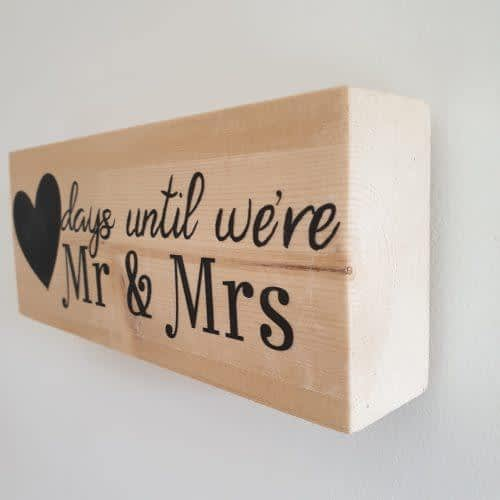 Mr and Mrs countdown