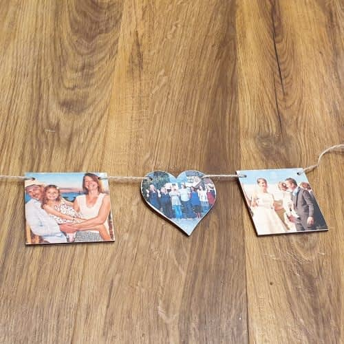 heart and square bunting