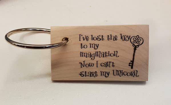 I've lost the key to my imagination keyring