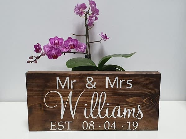 personalised wedding day