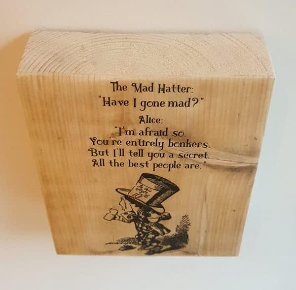 mad hatter bonkers quote