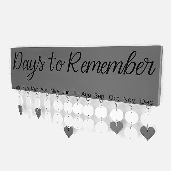 Days to remember board