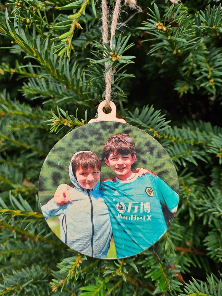 Photo Christmas Ornament - New Larger Design for Christmas 2020!