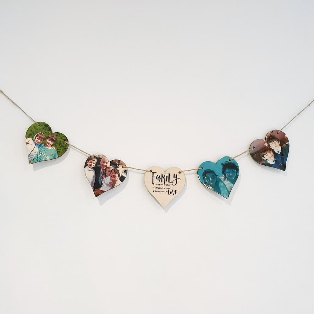 Photo Heart Bunting - Order Now for Christmas 2020!