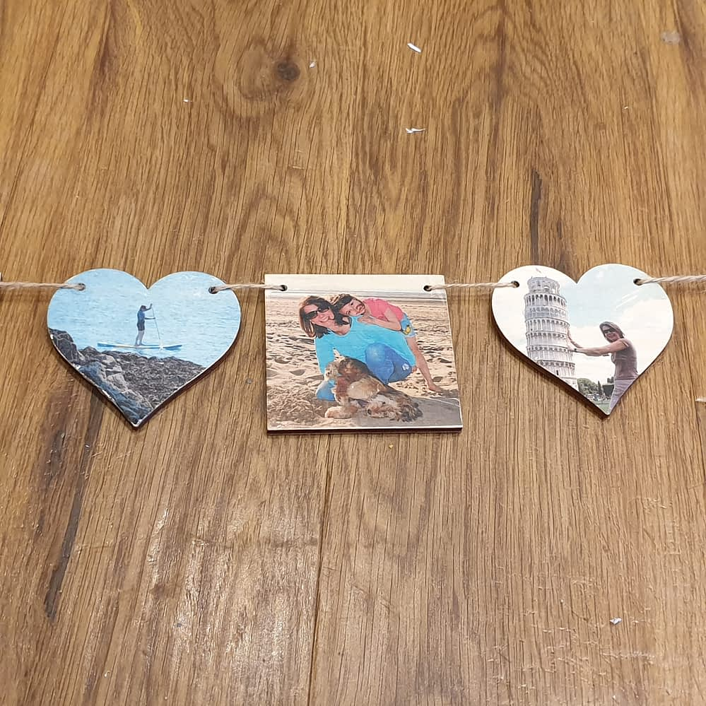 Photo Bunting - Squares and Hearts