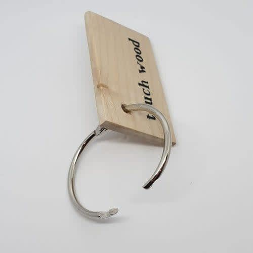 touch wood keyring